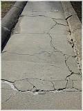 Sidewalk before rapairs